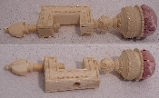 Gorgeous Ornately Carved Ivory Sewing Clamp c1830