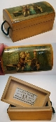 Mauchline Cherub Victorian Illustration Ware Thread Casket