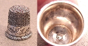 Pretty Floral Engraved Silver Thimble