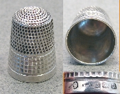 Silver Thimble by James Swann & Sons