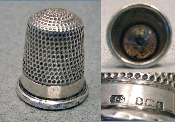 Silver faceted Band Thimble 1918
