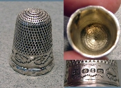 Silver Faceted 1890 Thimble
