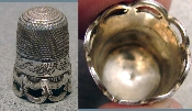 Atlantic Cable Silver Thimble
