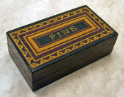 Antique Tunbridge Ware Pin Box
