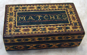 Antique Tunbridge Ware Match box