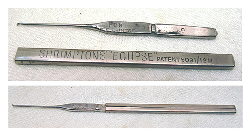 Antique Shrimptons Eclipse Cased Crochet Hook